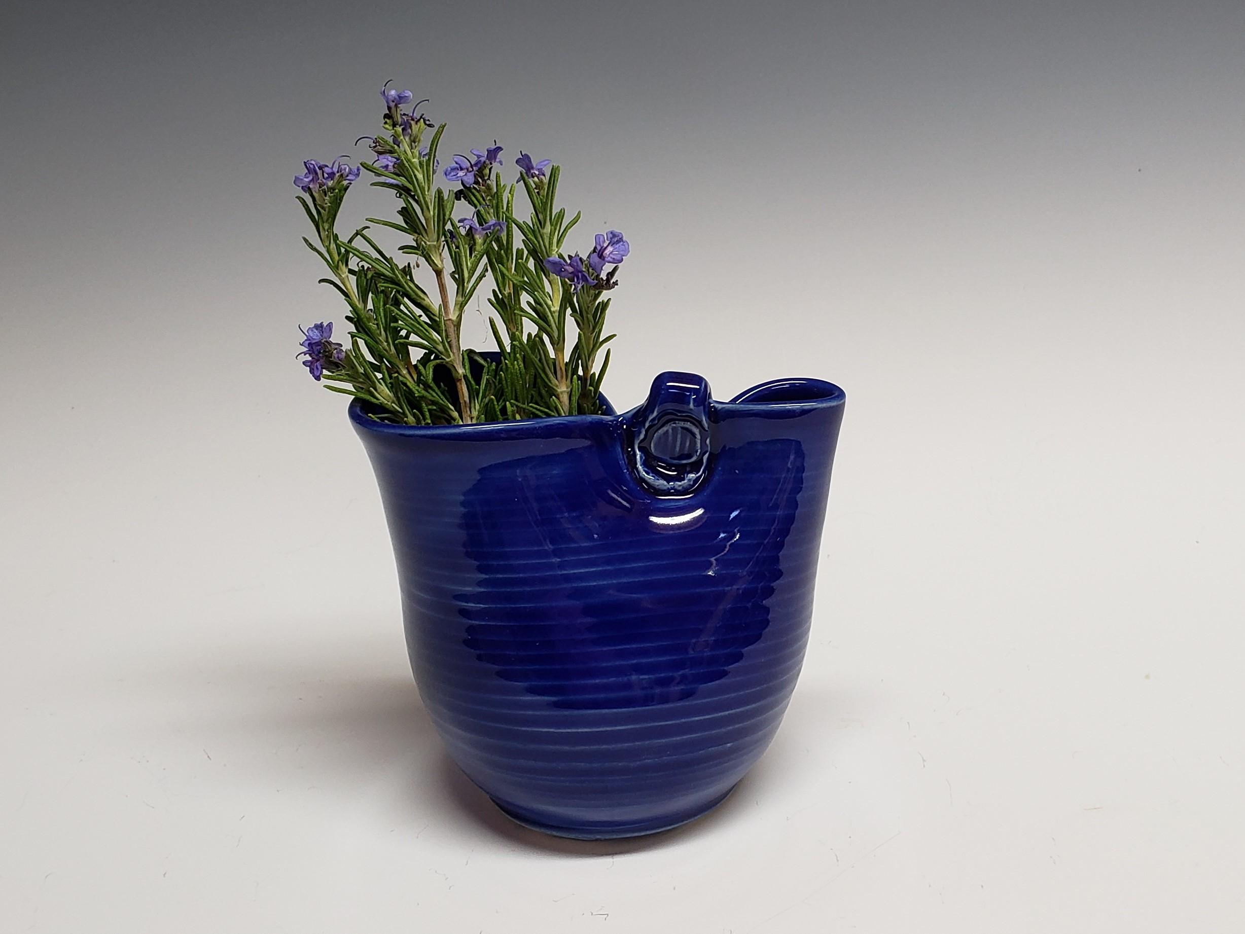 little blue vase