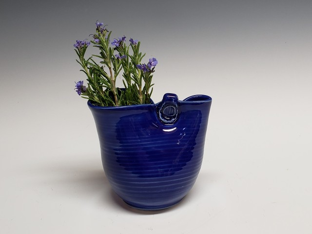 little blue vase